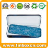 Double-Decked Stationery Metal Tin Case for Student, Pencil Box