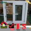 PVC Vinyl Storm Proof Tinted Horizontal Slide Glass Windows for House