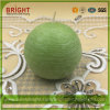Rustic Surface Hoar-Frosted Ball Shape Candles with MSDS Certificate
