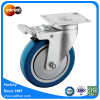 Swivel Plate Caster with 5 in PU Ball Bearing Wheel