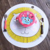 Anti-Skid Dishwashable Round Animal Graphic Kids Silicone Tablemat Placemat