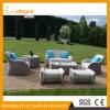 Modern Leisure Hotel Home Rattan PU Leather Treasure Sofa Bed Outdoor Garden Furniture