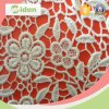 Fashion Grid Pattern Chemical Lace Fabric Cotton Guipure Lace Fabric
