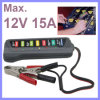12V Digital Battery / Alternator Tester with 6-LED Lights Display Car Vehicle Battery Diagnostic Tool