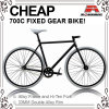 Cheap Hi-Ten Black 700c Fixed Gear Bicycle (ADS-7067S)