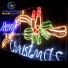 Animated 230cm Wide LED ′merry Christmas′ Sign with Candles Motif Rope Lights
