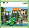 Kaiqi Small Forest Themed Children′s Playground with Twin Slides (KQ50039B)