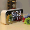 Calendar Display Mirror Alarm Table LED Clock with Temperature
