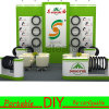 Self-Building Portable Modular Reusable Versatile Wheels Exhibition Racks
