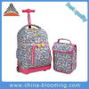 Kids′ Rolling Backpack Trolley School Bag with Lunch Bag