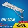 20W 5m Q235 Steel Pole LED Solar Street Light All in One