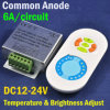 CCT Color-Temp Adjustable Dimmer Controller with RF Wireless Touch Remote