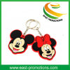 Custom Mickey Shaped Soft PVC Rubber Key Chain Promotion
