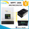 100A MPPT 12V/24V/36V/48V RS485-Port Solar Battery Charge Controller Sch-100A