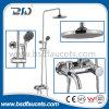 Round Tube Chrome-Plated  Brass Shower Set