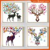 Artwork Colorful Deer Painting From Chinese Factory