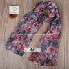 2017 Hot Sale Rose Printed Viscose Shawl Fashion Lady Scarf