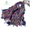 Large Multicolor Stripe Sunscreen Fringed Fashion Lady Scarf Shawl