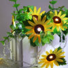 Non-Woven Fabric Sun Flower Flexible and Extendable Twinkling String Lights with Indoor