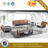 Modern Office Furniture Leather Sofa with Metal (HX-CS094)