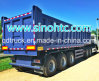 3 Axles dump semi side trailer