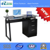 2017 Hotsale Black Glass Computer Desk with File Cabinet Rx-D1034b