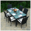 Outside Dining Table with Top Quality Tempered/Toughened Glass