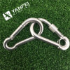 Stainless Steel Straight Snap Hook with Eyelet