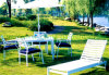 Aluminum Garden Furniture Set with Chair, Table and Lounge