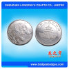 Silver Plated Logo Embossed Metal Coin Form China Supplier