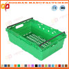 Plastic Mesh Supermarket Fruit and Vegetable Container Turnover Box (ZHtb39)