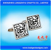 Die Casting Engrave Color Enamel Cufflinks Custom Logo Shape