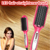 2016 New Professional LED Temperature Control Paddle Hair Straightener Brush