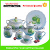 Round Ceramic Dinnerware Set with Decal Fruits