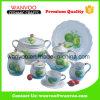 Round Ceramic Dinnerware Set with Decal Fruits