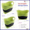 Green Color Velvet Suede Basket (1503R1)