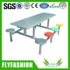 Stainless Steel 8 Person Dining Table and Chair for Canteen