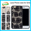 Semitransparent Silk Print Black Lace TPU Case for iPhone 7/6/6s