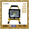 CE RoHS Waterproof 6hrs Portable Rechargeable 30W LED Flood Light