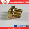 Yellow Zinc-Plated Bolts with Flange Head, DIN6921