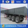 40feet 3 Axle High Bed Semi Trailer Truck 40ton