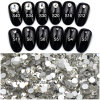 White Colour Rhinestone Crystal Nail Art Acrylic Stickers Diamond Gems Stones 1440 Pieces