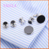 VAGULA Fashion Rhodium Plated Gemelos Wedding Cufflink Set