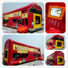 Inflatable Jungle Buss Bouncer Slide, China Inflatable Factory