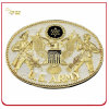 Customized Antique Gold Plated Embossed Metal Belt Buckle