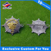 Stamping Metal Badge Gold & Sliver Plated Double Color Badge