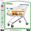 Hot Sale European Style Shopping Cart with Advertisement