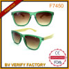 Popular Shape Bamboo Arms Sun Glasses with Clear Crystal Frame