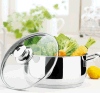 Glass Lid with Stainless Steel Cookware