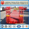 3 Axles 50 Tons Heavy Duty Lowbed Lowboy Truck Trailer for EU